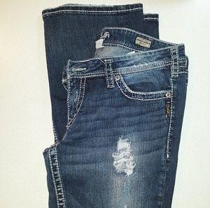 Silver jeans. Women's 34x33